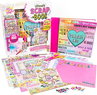 Just My Style Ultimate Scrapbook By Horizon Group Usa,Personalize & Decorate Your DIY Scrapbook With Stickers,Sequins,Gems...