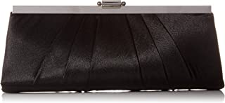 Blaire Womens Satin Frame Evening Clutch Bag Purse With Shoulder Chain Included