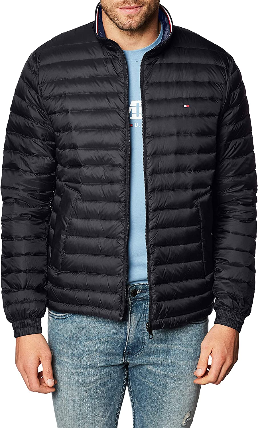 Tommy Hilfiger Men's Core Down Packable Year-end annual account Direct stock discount Jacket Black