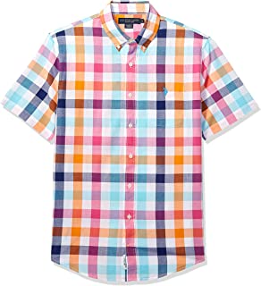 U.S. Polo Assn. Men's Short Sleeve Plaid Woven Shirt