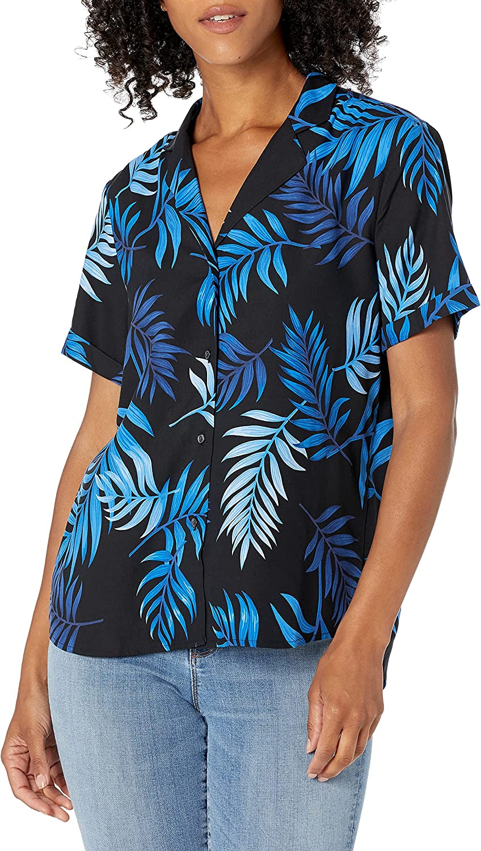 28 Palms Women's Ranking TOP17 Loose-Fit 100% 35% OFF Hawaiian Shirt Silk Tropical