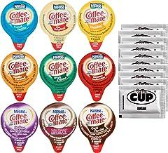 Coffee Mate .375oz Non-Dairy Liquid Creamer Singles - 9 Flavor Assortment, Hazelnut, French Vanilla, Original, Cafe Mocha,...