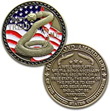 2nd Amendment Challenge Coin - Second Amendment Coin - Designed by Military Veterans!