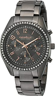 Caravelle New York Women's 45L161 Swarovski Crystal  Stainless Steel Watch