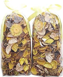 Qingbei Rina Potpourri Bag Yellow Color Scented Dried Flowers Fragrance Sachet Petal Bowl..
