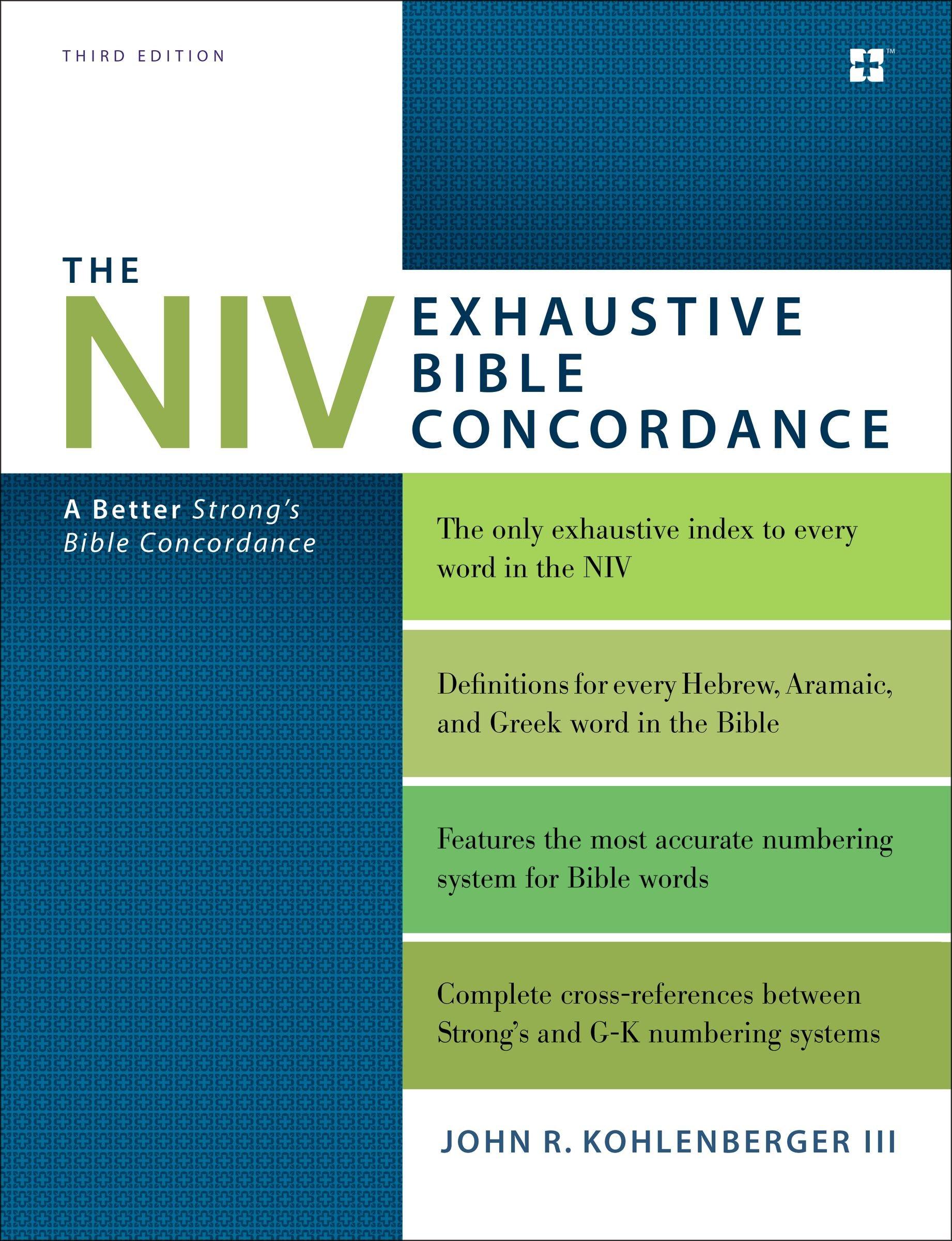 NIV Exhaustive Bible Concordance Third