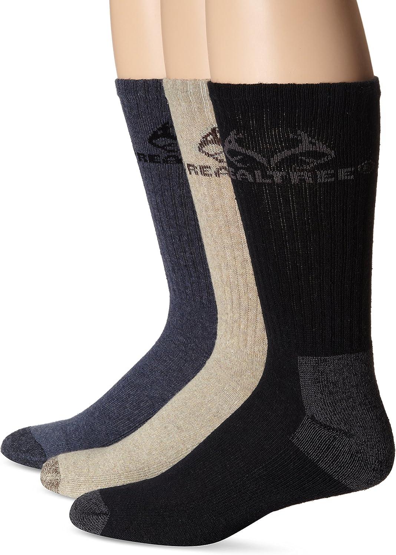 RealTree Casual Cotton Crew Socks, 3 Pair