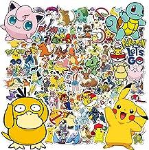 Stickers Pokemon, 100pcs Autocollants Pokemon, Stickers Voiture, Autocollant Enfant, Stickers Moto, Stickers Skate, Autoco...