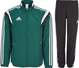 1f141c2ab894 adidas Tracksuit Woven Soccer RefSuit Track Top Pants Training Black Green  G90430