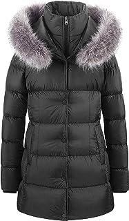 Chaqueta De Invierno Cálida Para Mujer Abrigo Acolchado Grueso De Piel Larga Con Capucha Extraíble