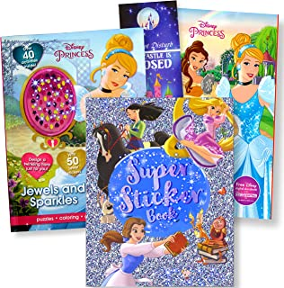 Disney Princess Coloring Books with Stickers