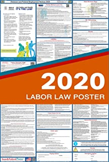 2020 Delaware Labor Law Posters (Laminated) All-in-One State and Federal Approved, OSHA Compliant Vertical 27