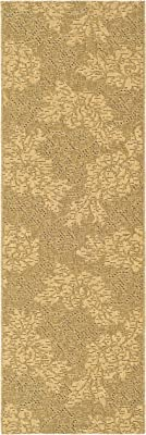 """Safavieh Courtyard Collection CY6957-49 Gold and Natural Indoor/ Outdoor Runner (2'2"""" x 9'11"""")"""