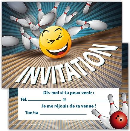 Carte Anniversaire Bowling.Amazon Fr Carte Invitation Anniversaire Bowling Voir