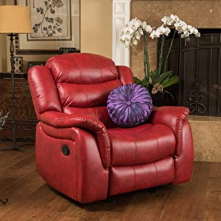 Christopher Knight Home Merit Contemporary Glider Recliner Chair, Red Leather