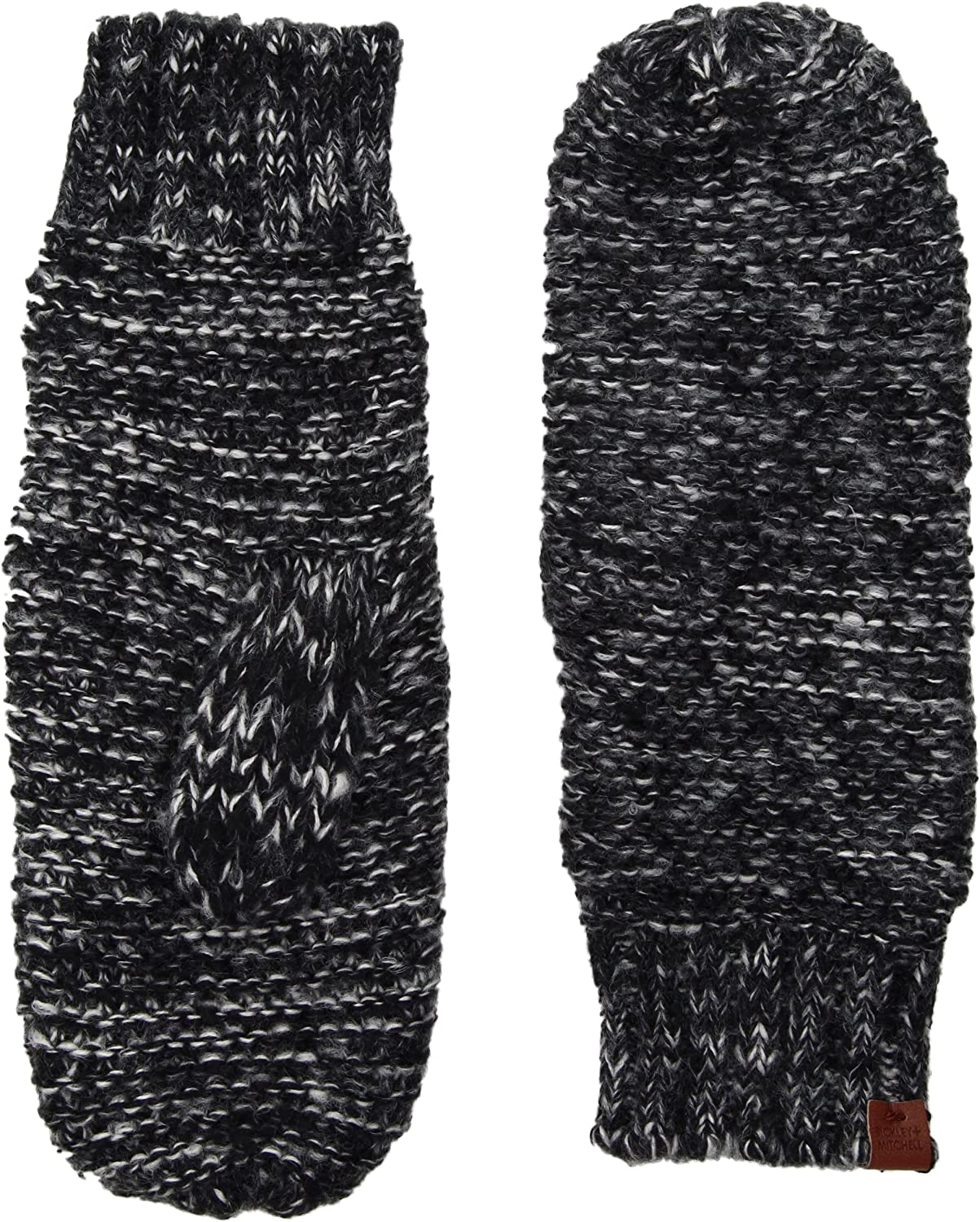 Bickley & Mitchell womens Knit Mittens With Fleece Lining Winter Mittens
