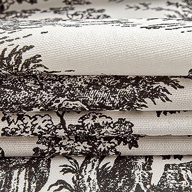 Premier Prints Colonial Toile, Yard, Black/White