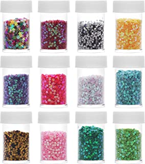 Kurtzy Pots de Paillettes Loisirs Créatifs (Lot de 12) - Flacons de Paillettes Dorées Scintillantes - Petites Paillettes p...