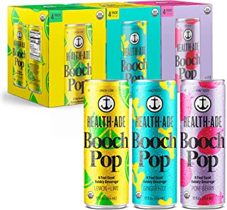 Health-Ade Booch Pop Healthy Soda for Gut Health, Made with Kombucha, Calcium, and Magnesium, 12 Pack Case (12 Fl Oz Cans)...