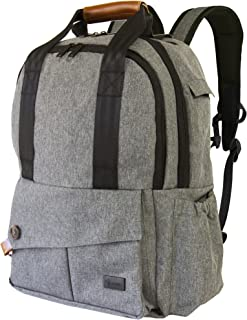 9 Rabbits Diaper Bag Backpack, Stylish Multi-Function Waterproof Smart Organizer Baby Back Pack, Large Capacity, Perfect For Travel With Adjustable Shoulder Straps and Wipeable Infant Changing Pad