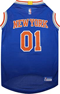 NBA NEW YORK KNICKS DOG Jersey, Large - Tank Top Basketball Pet Jersey