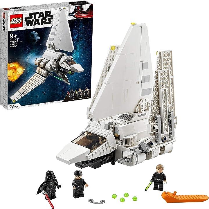 Star wars imperial shuttle,set costruzioni con minifigure di skywalker e darth vader con spada laser - lego B08G4CXG4P