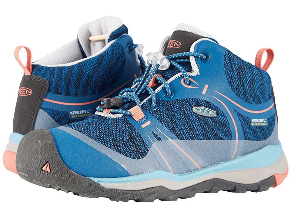 Keen Kids Terradora Mid WP (Little Kid/Big Kid) (Aqua Sea/Coral) Girl