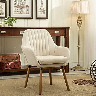 Roundhill Furniture Tuchico Contemporary Fabric Accent Chair, Tan