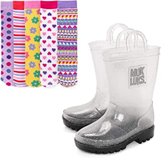MUK LUKS Girl's Clear Molly Rainboots