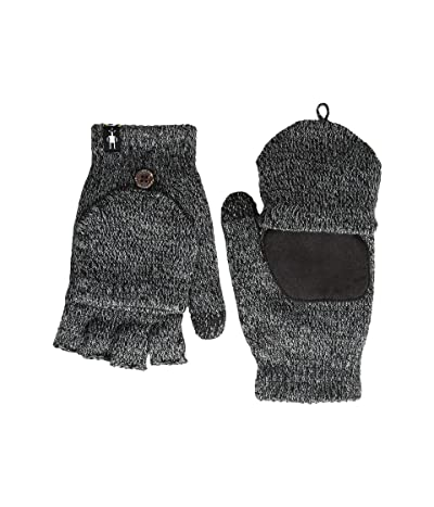 Smartwool Cozy Grip Flip Mitt (Black) Extreme Cold Weather Gloves