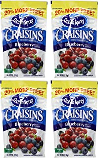 Ocean Spray Craisins - Dried Cranberries - Blueberry Juice Infused - Net Wt. 6 OZ (170 g) Per Package - Pack of 4 Packages
