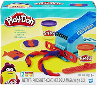 PLAY DOH B5554 Basic Fun Factory Shape Making Machine with 2 Non-Toxic Colors Red/Blue