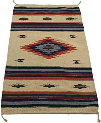 Onyx Arrow Southwest Décor Area Rug, 32 x 64 Inches, Center Diamond, Tan/Red