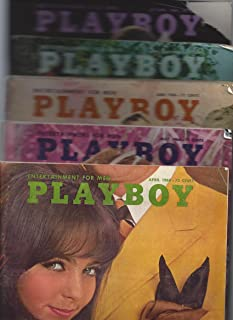Five 1968 Issues of Playboy Magazine (April, May, June, July, October)