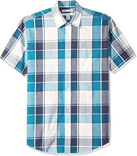 Amazon Essentials Men's Regular-Fit Short-Sleeve Casual Poplin Shirt