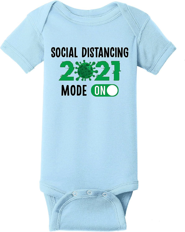 Social Distancing Mode On Max 69% OFF 2021 Boy Quarantine Baby Bodysuit Girl Luxury goods