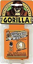 Gorilla Original Gorilla Glue Minis, Waterproof Polyurethane Glue, Four 3 gram Tubes, Brown