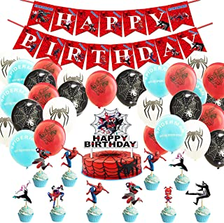 Spiderman Party Favors Sets for Boys and Girls Birthday Party Decorations Sets - 3 Categories, Including 1 Set of Birthday...
