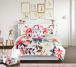 Chic Home Retsina 3 Piece Reversible Quilt Set Floral Watercolor Design Bedding - Decorative Pillow Sham Included, Twin, M...
