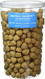 Meatball Dog Treats, 40-Ounce Tub