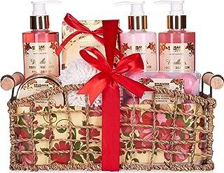 BRUBAKER Cosmetics Set de Baño y DuchaVanilla & Poeny Blossom - Fragancia Flor de Peonía - Juego de regalo de 13 piezas ...