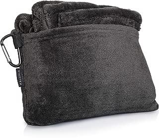 Travel Convertible Blanket Pillow Micro Fleece Ultra Soft Throw Charcoal Gray