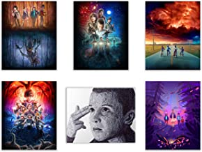 Stranger Things Netflix Poster Prints - Set of 6 (8 inches x 10 inches) Photos - Featuring Millie Bobby Brown as Eleven, Dustin, Mike, Lucas, Will