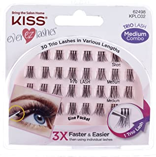 Kiss Products Ever Ez Trio Lashes Medium, 0.03 Pound (Pack of 3)
