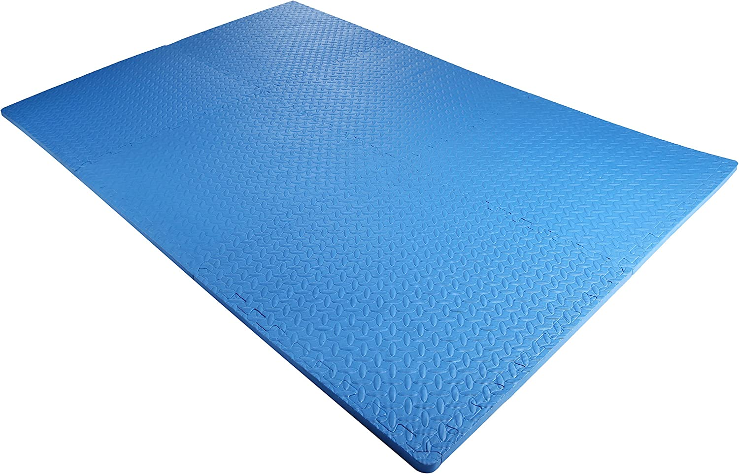 BalanceFrom Puzzle Exercise Mat with EVA Foam Interlocking Tiles, Gray, 144 sq. ft. (Pack of 36): Sports & Outdoors