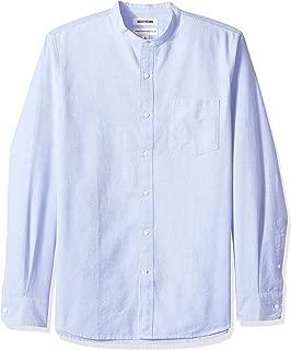 Amazon Brand - Goodthreads Men's Standard-Fit Long-Sleeve Band-Collar Oxford Shirt