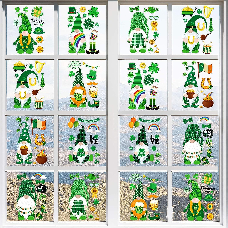 Zonon 152 Pieces Ranking TOP17 16 Sheets Day Decoration Patrick's Japan's largest assortment St. Shamrock