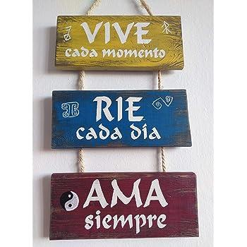 Cartel de madera decoracion, con frases, personalizado