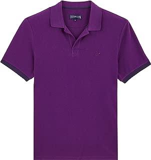Men Cotton Polo Shirt Solid
