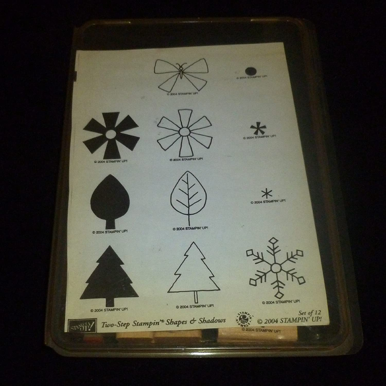 Stampin' Up TwoStep Stampin Shapes & Shadows Rubber Stamp Set